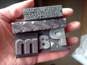 Old hot metal type